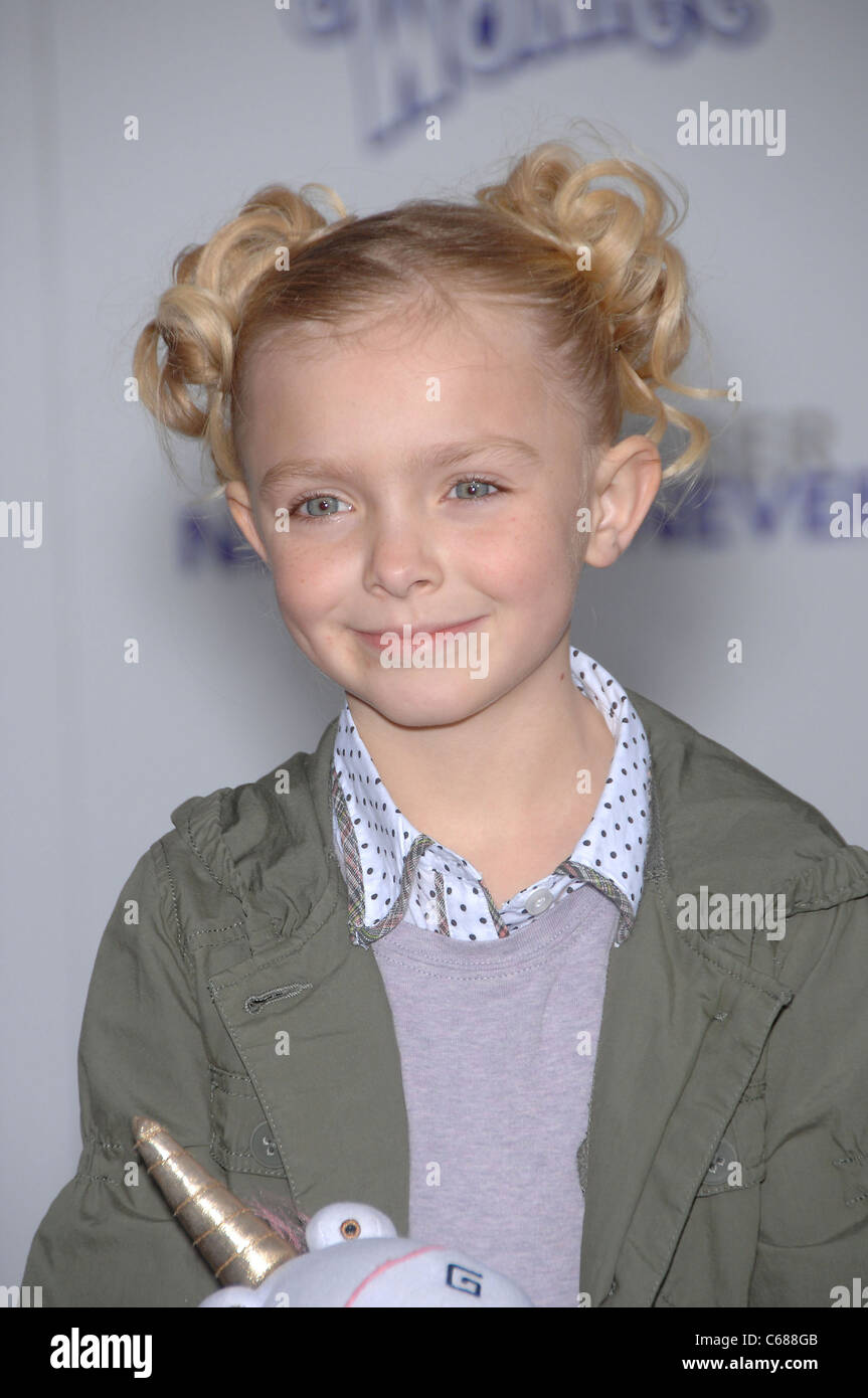 Elsie Fisher at arrivals for JUSTIN BIEBER: NEVER SAY NEVER Premiere, Nokia Theatre, Los Angeles, CA February 8, - Stock Image