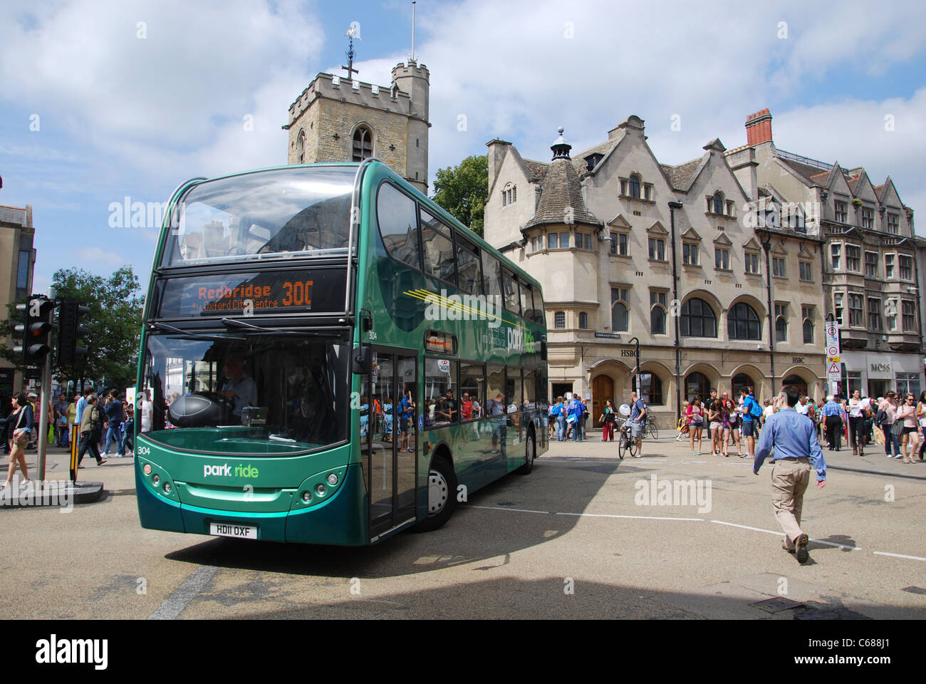 Carfax Tower With Coach Oxford United Kingdom Stock Photo 38291065