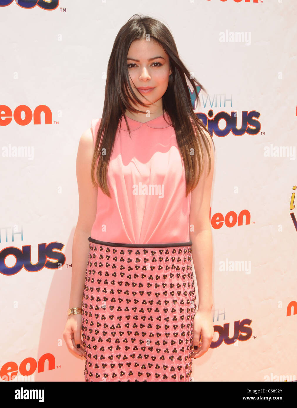 Miranda Cosgrove at arrivals for iParty With Victorious Premiere Party, The Lot, Los Angeles, CA June 4, 2011. Photo - Stock Image