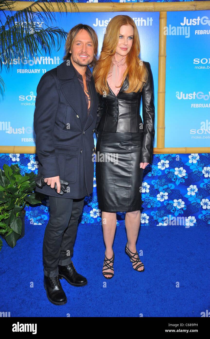 Keith Urban, Nicole Kidman (wearing L'Wren Scott) at arrivals for JUST