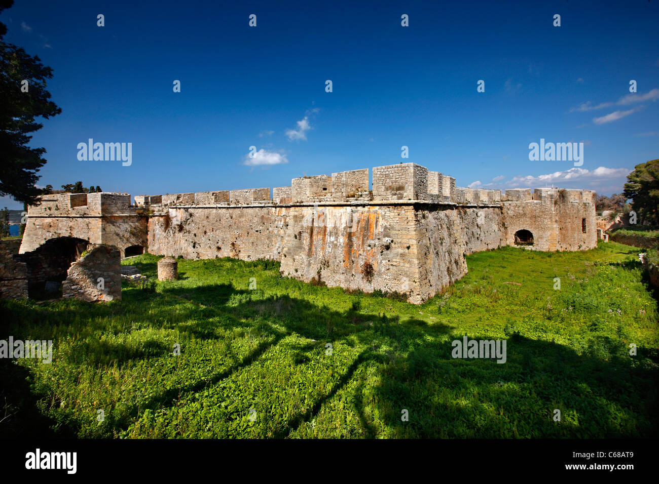 The Niokastro (means 'New Castle') of Pylos town, Messinia prefecture, Peloponnese, Greece. - Stock Image
