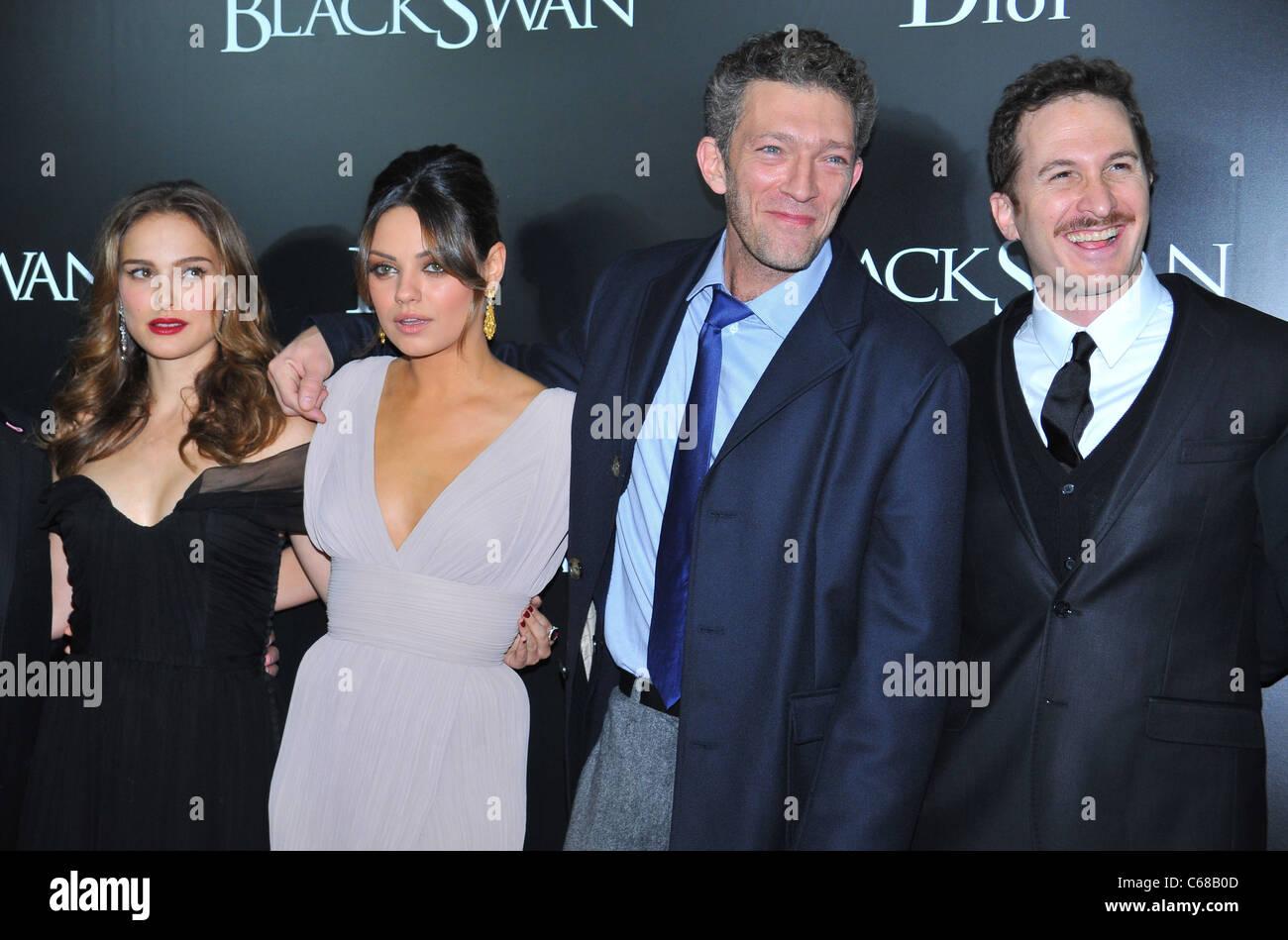 Natalie Portman, Mila Kunis, Vincent Cassell, Darren Aronofsky at arrivals for BLACK SWAN Premiere, The Ziegfeld - Stock Image