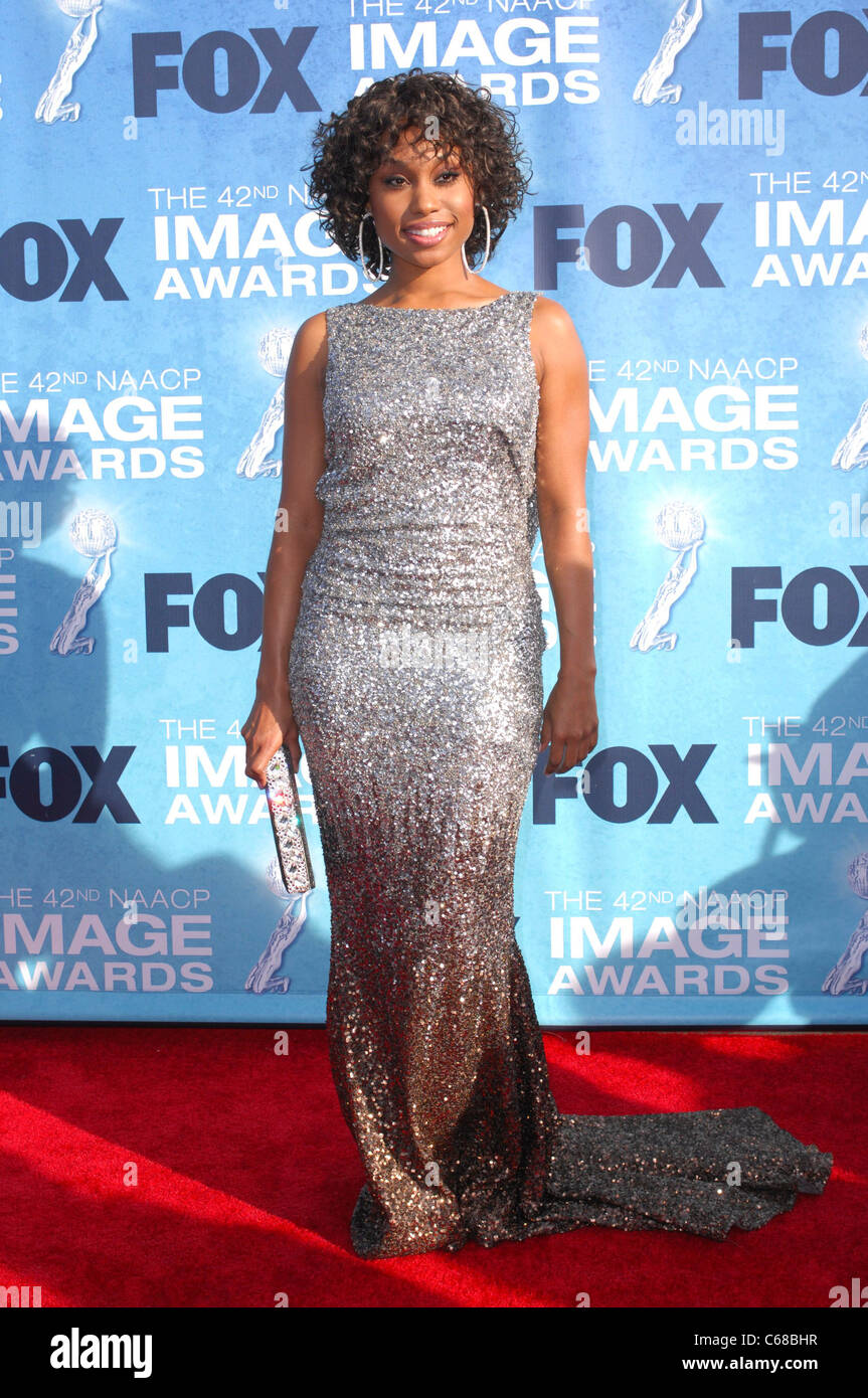 Angell Conwell at arrivals for 42nd NAACP Image Awards, Shrine Auditorium, Los Angeles, CA March 4, 2011. Photo - Stock Image