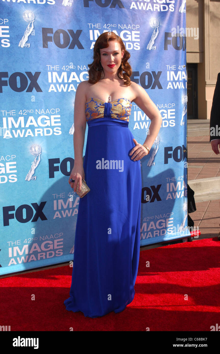 Erin Cummings at arrivals for 42nd NAACP Image Awards, Shrine Auditorium, Los Angeles, CA March 4, 2011. Photo By: - Stock Image