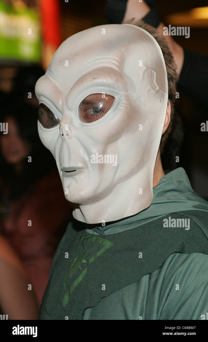 Spencer Pratt (In the Alien Mask) at arrivals for PURE Nightclub Halloween Party PURE Nightclub at Caesars Palace Las Vegas NV October 30 2010. & Spencer Pratt (In the Alien Mask) at arrivals for PURE Nightclub ...