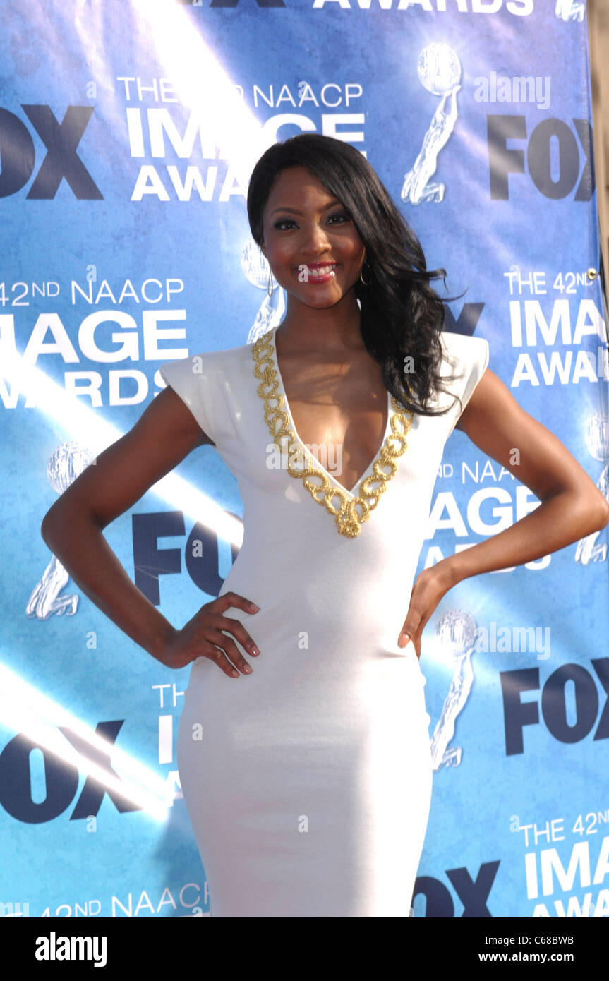 Osas Ighodaro at arrivals for 42nd NAACP Image Awards, Shrine Auditorium, Los Angeles, CA March 4, 2011. Photo By: - Stock Image