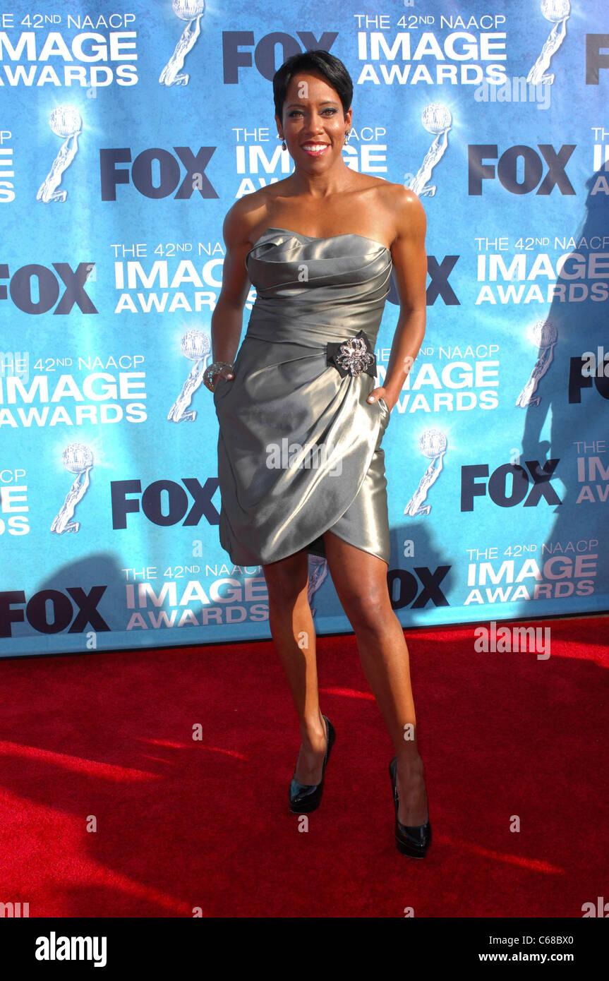 Regina King at arrivals for 42nd NAACP Image Awards, Shrine Auditorium, Los Angeles, CA March 4, 2011. Photo By: - Stock Image