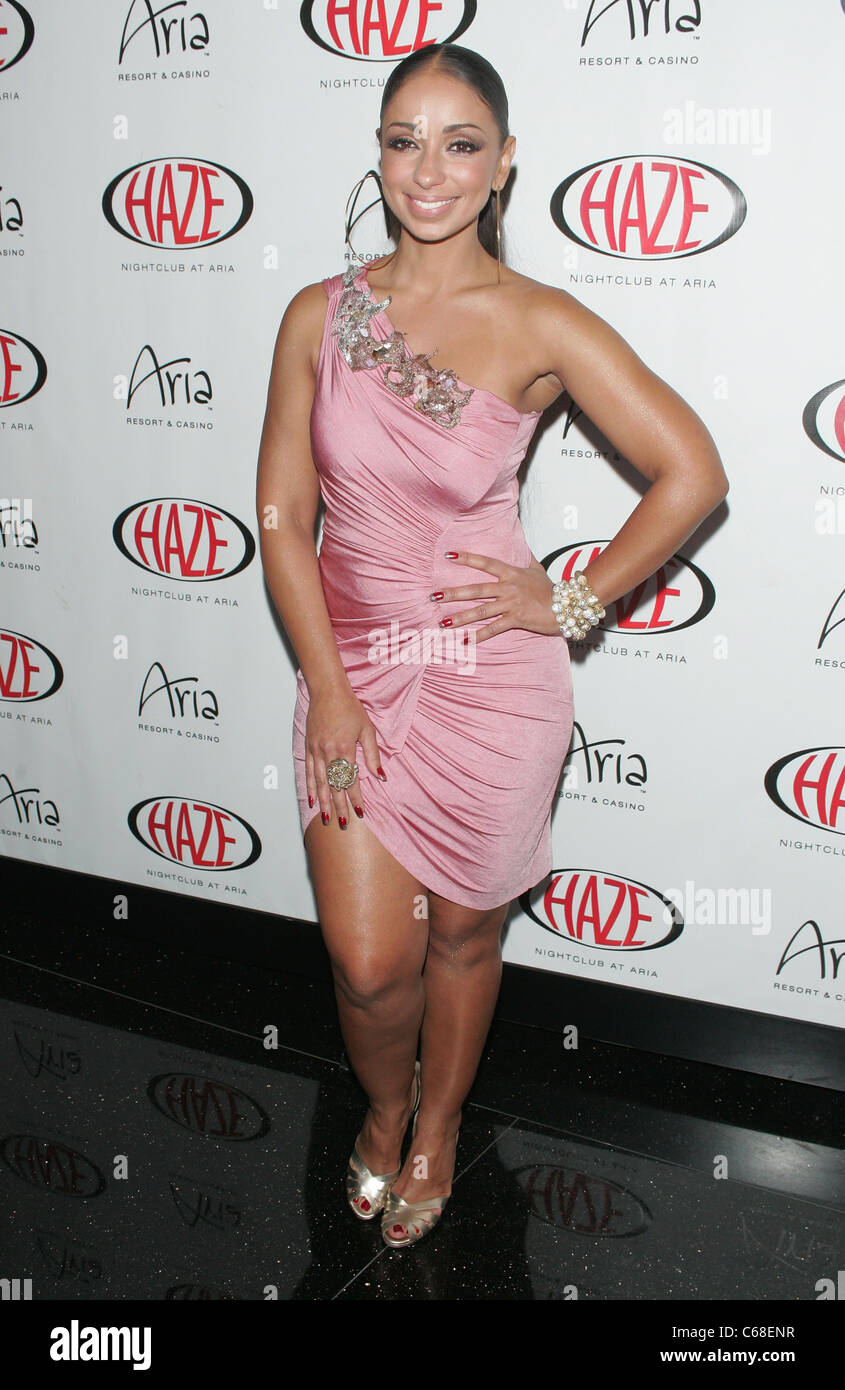 Mya (wearing a dress by Emma Saval) in attendance for Mya Performs ...