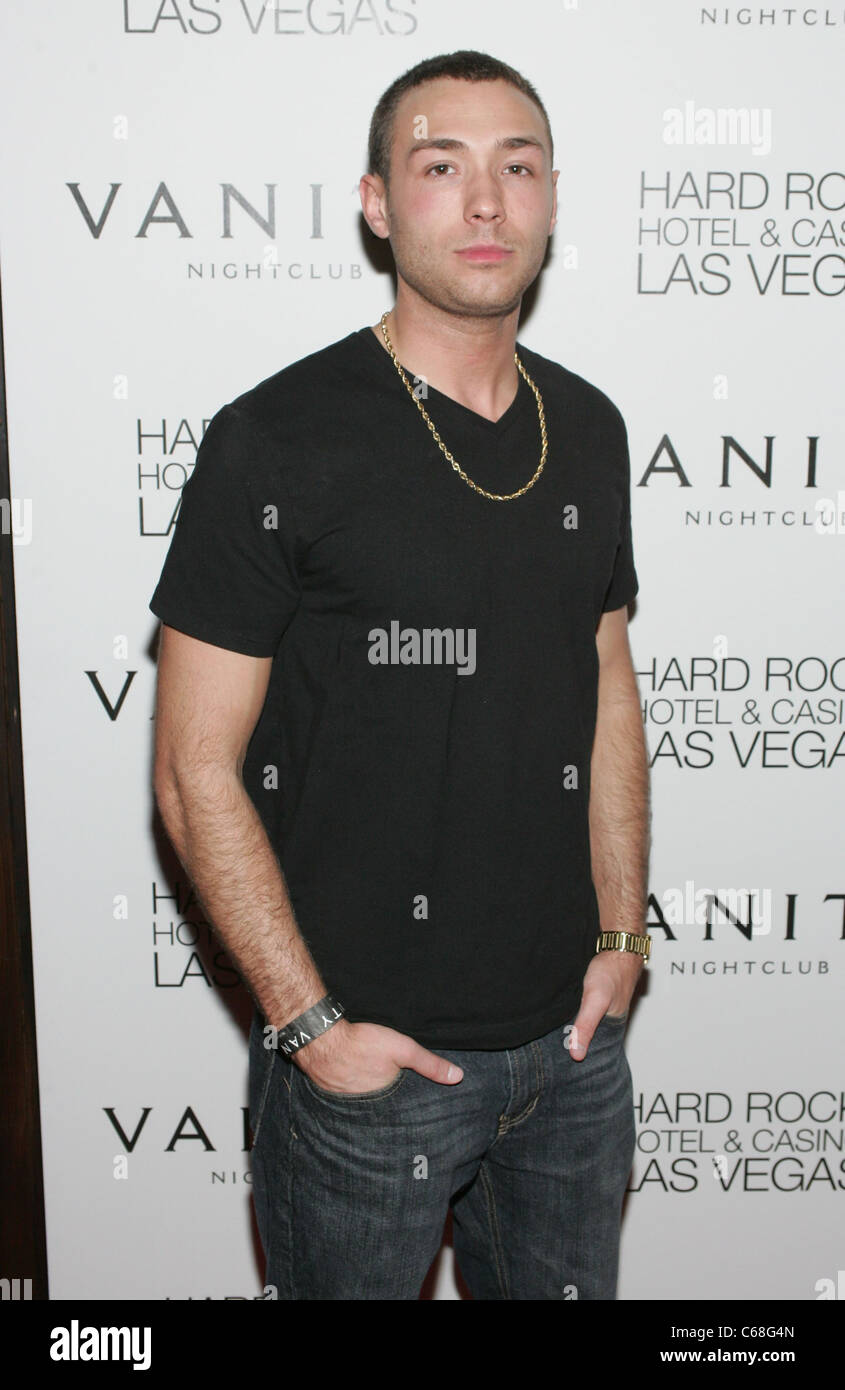 Adam Royer at arrivals for MTV's The Real World: Las Vegas Premiere Party, Hard Rock Hotel and Casino, Las Vegas, - Stock Image