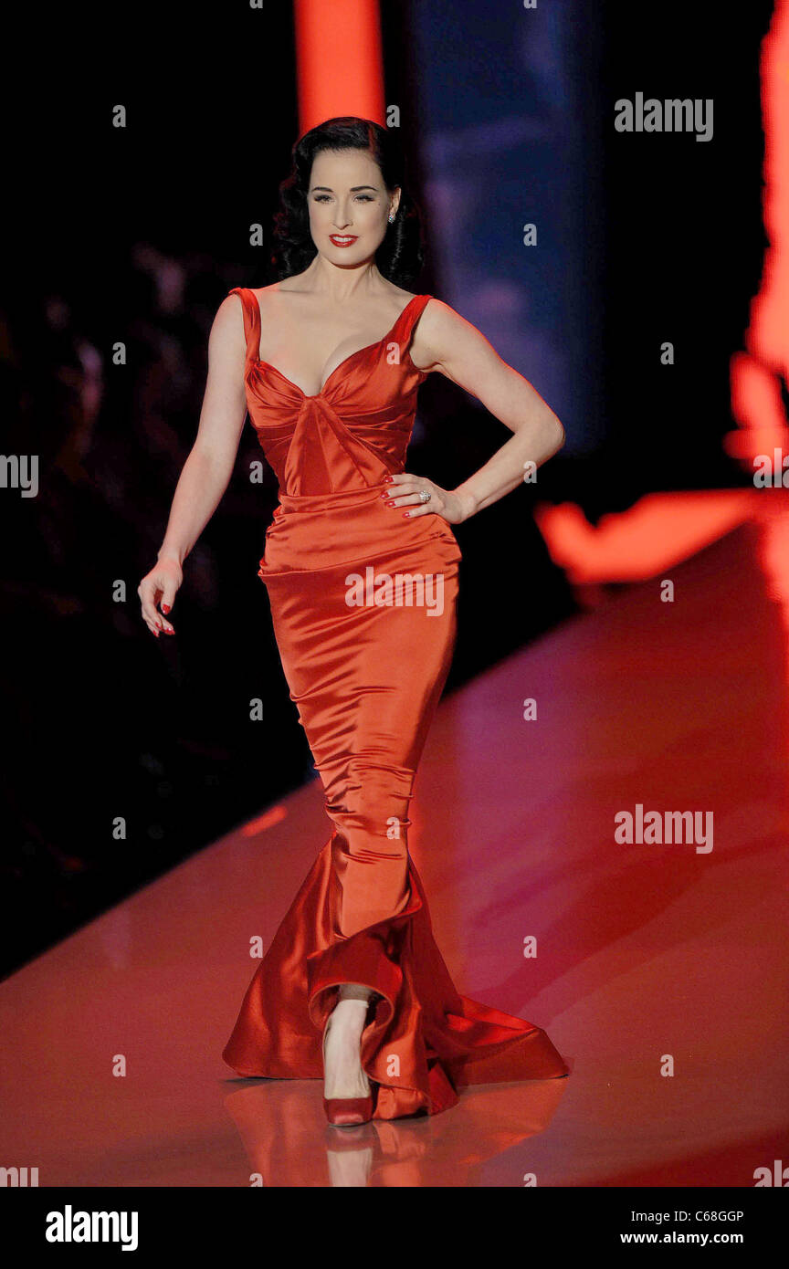 6dc68664a Dita Von Teese in attendance for The 2011 Heart Truth Red Dress Collection  Fashion Show