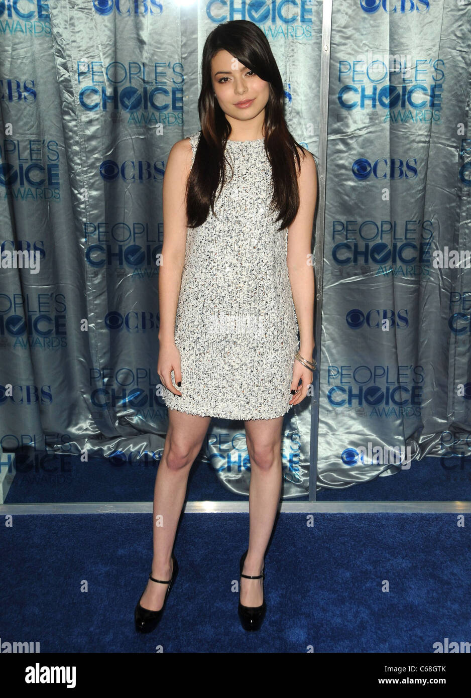 Miranda Cosgrove at arrivals for People's Choice Awards 2011 - ARRIVALS, Nokia Theatre L.A. LIVE, Los Angeles, - Stock Image
