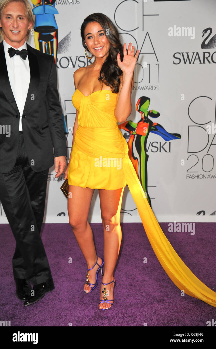 Emmanuelle Chriqui at arrivals for The 2011 CFDA Fashion Awards, Alice Tully Hall at Lincoln Center, New York, NY - Stock Image