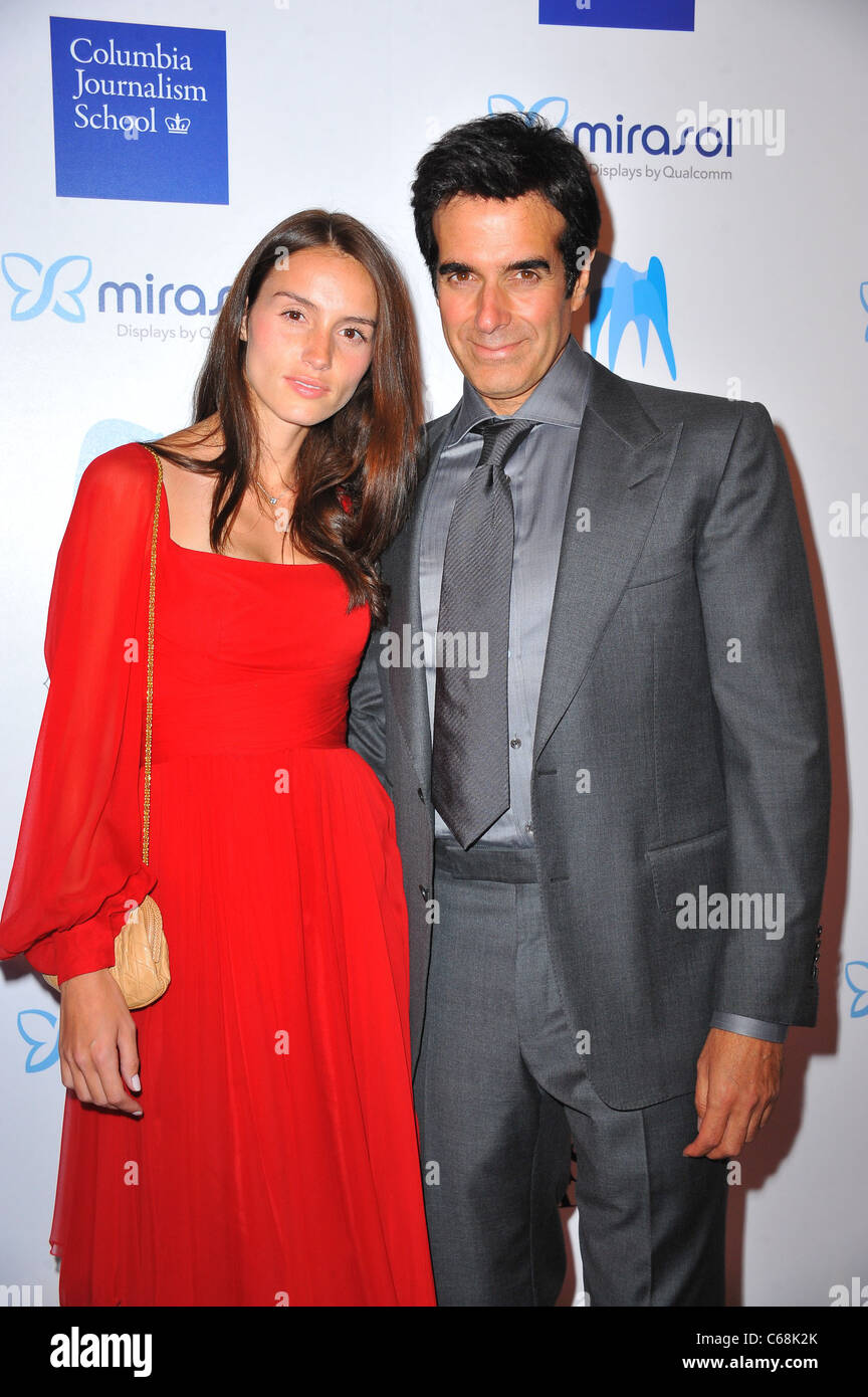Ambre Frisque, David Copperfield at arrivals for American Society of Magazine Editors (ASME) 46th Annual 2011 National - Stock Image