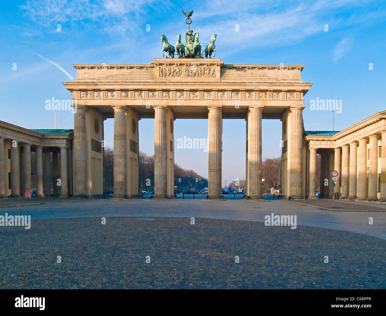 Brandenburg Gate, Berlin, Germany, Europe - Stock Image