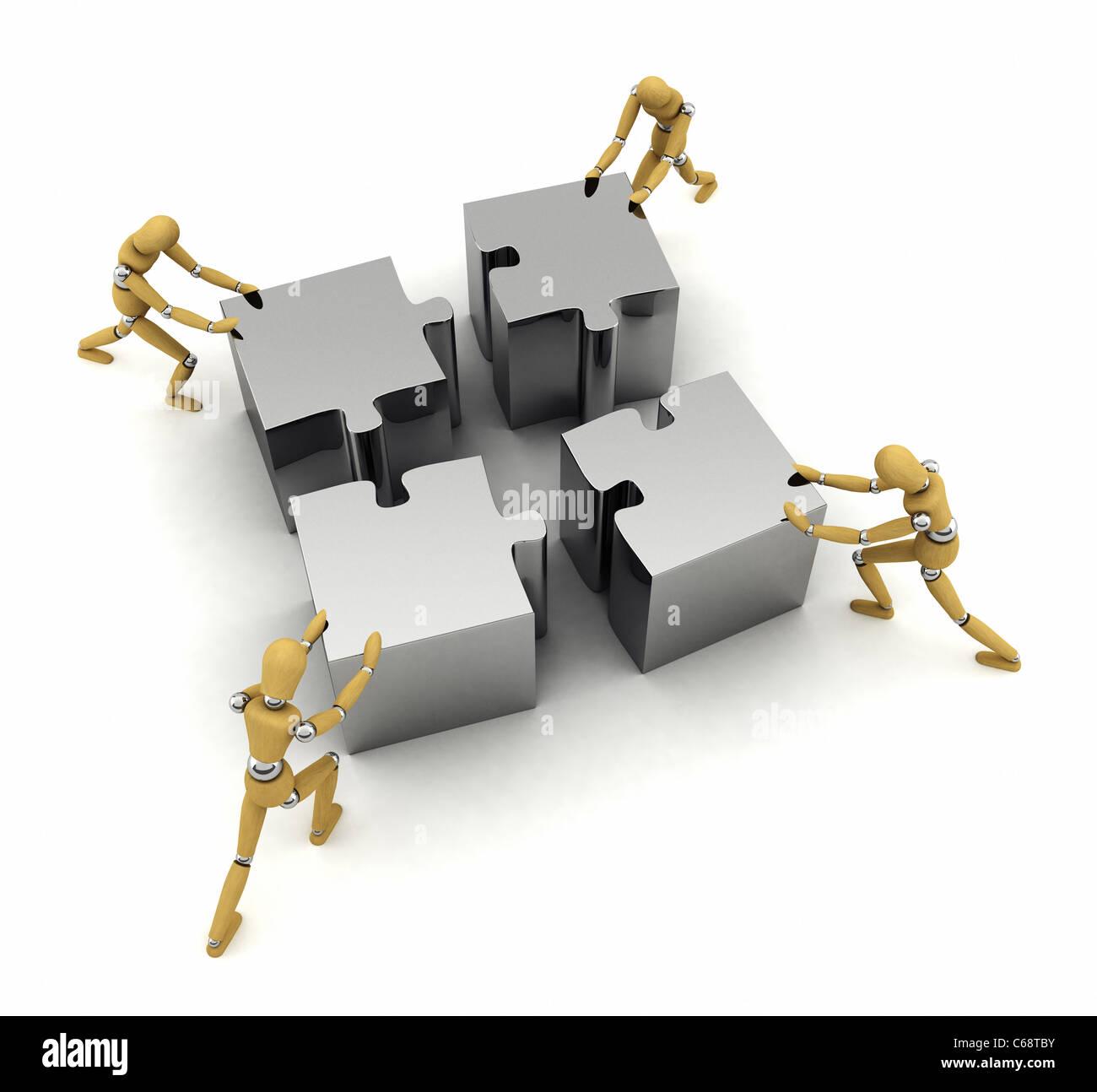Teamwork concept - Stock Image