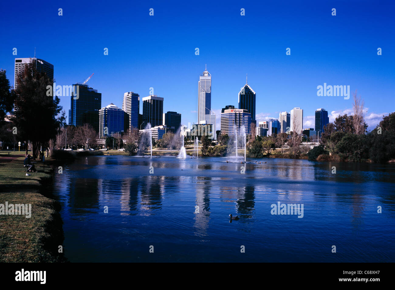 Perth skyline West Australia - Stock Image