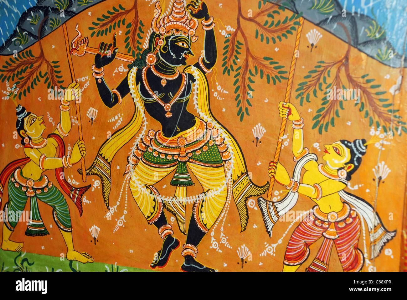 Lord Krishna Painting Stock Photos & Lord Krishna Painting Stock