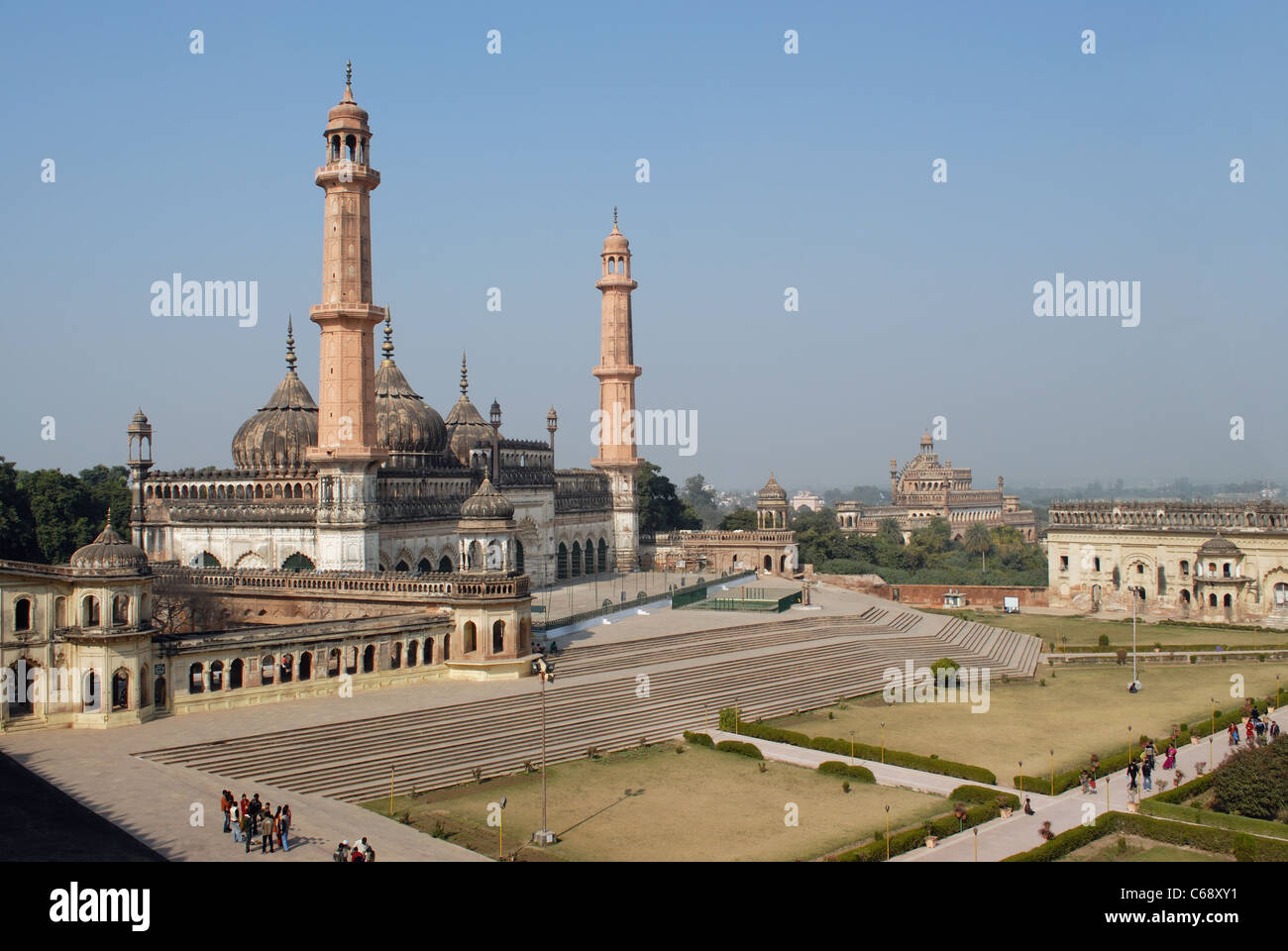 Asfi Masjid in Bara Imambara, Lucknow, Utter Pradesh, India. - Stock Image