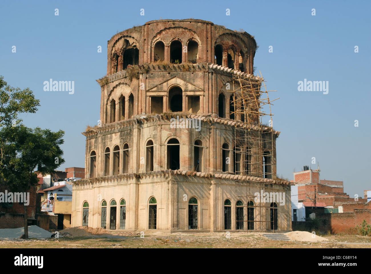 Sathkunda, Seven- storeyed tower in Husainabad, Lucknow, Uttar Pradesh. Abode of the Royal Princesses, over 200 - Stock Image