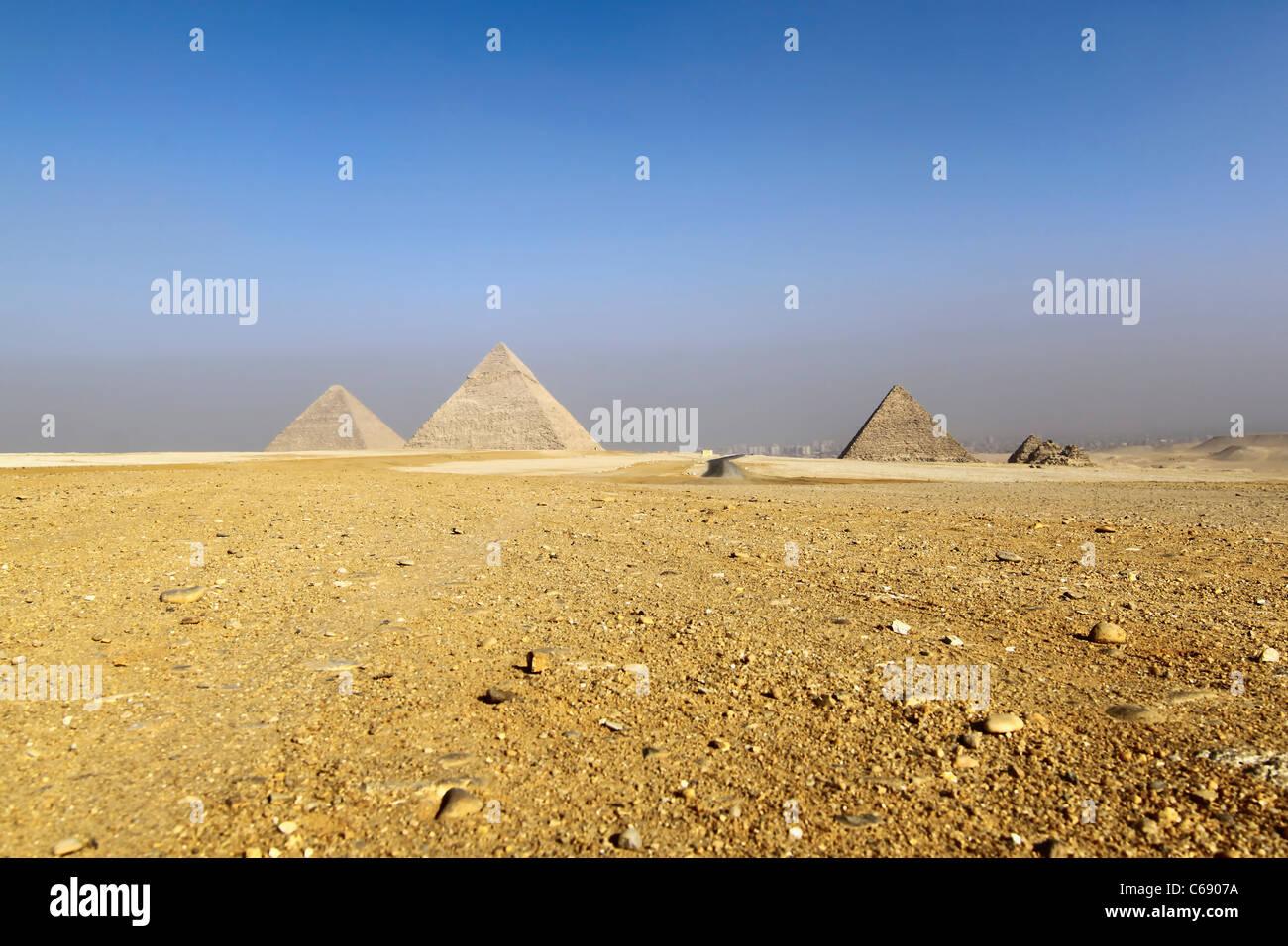 giza piramids - Stock Image