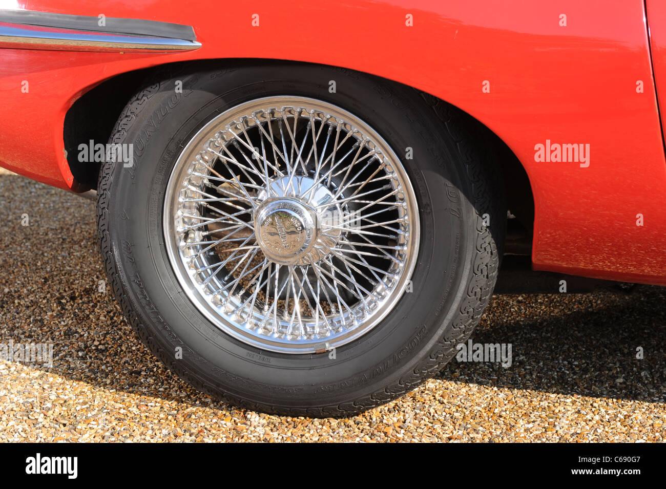 1970 Jaguar Etype series 2 roadster in red - Stock Image