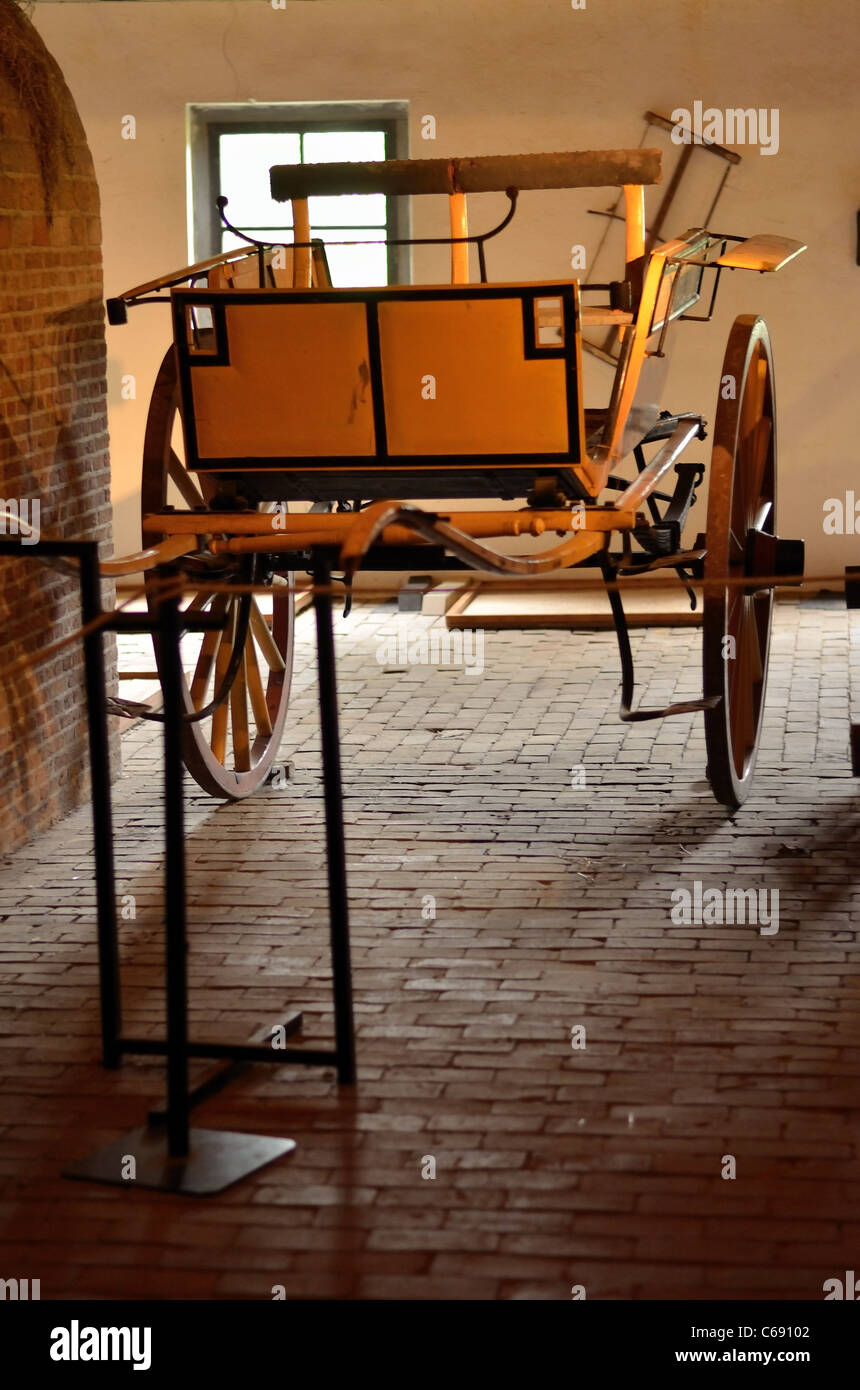 Open Air Museum, chariot, buggy - Stock Image