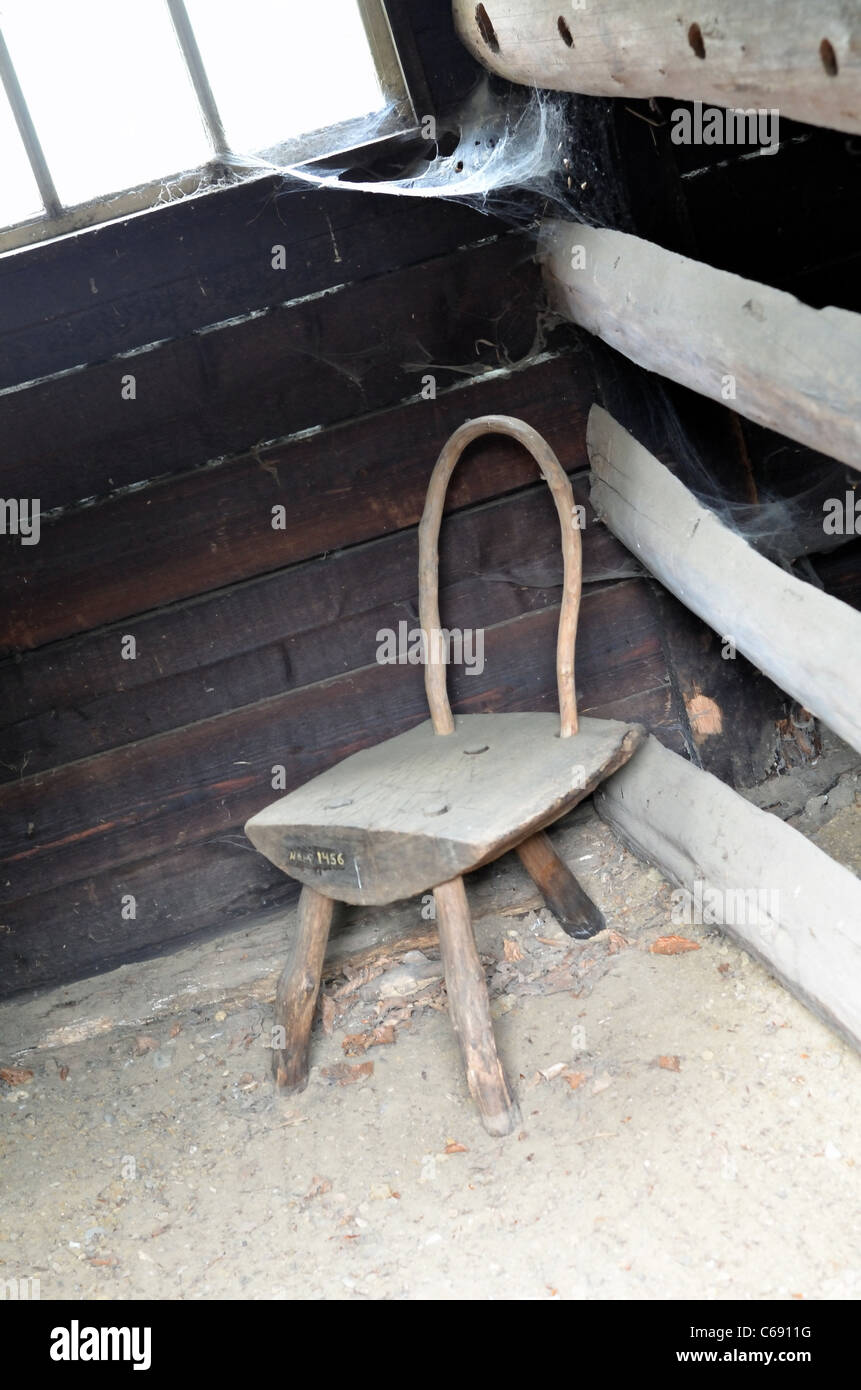 Open Air Museum, old chair - Stock Image