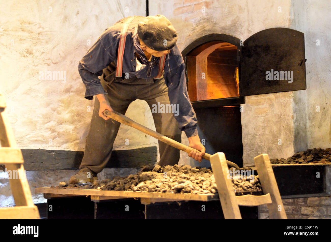 Open Air Museum, Worker - Stock Image