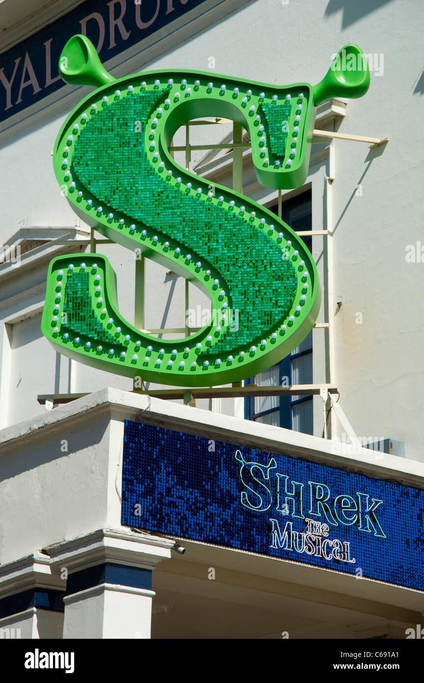 Shrek The Musical at Theatre Royal, Drury Lane, London - Stock Image