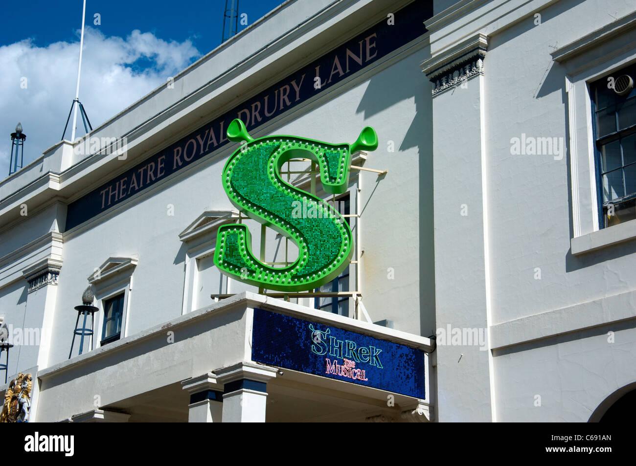 Shrek the Musical at London's Theatre Royal, Drury Lane - Stock Image