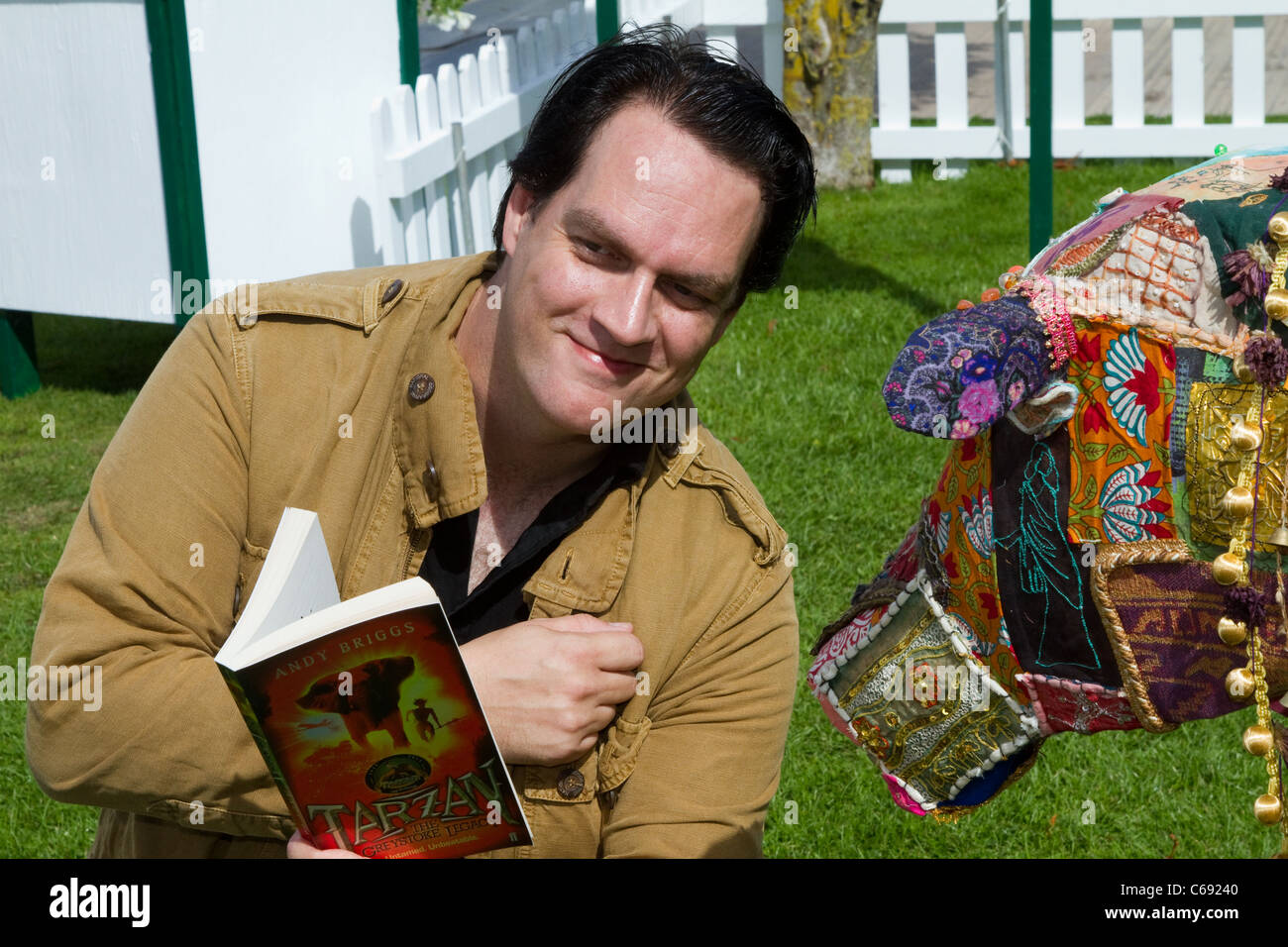 Andy Briggs Author at the 28th Southport Flower Show Showground Victoria Park, Southport,  2011 Merseyside, UK - Stock Image