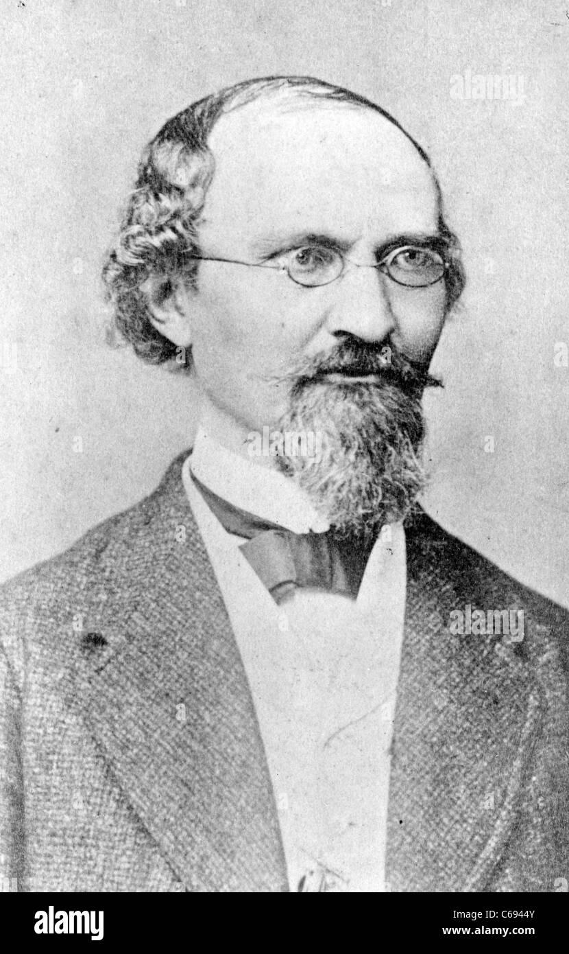 German author Friedrich Bodenstedt - Stock Image