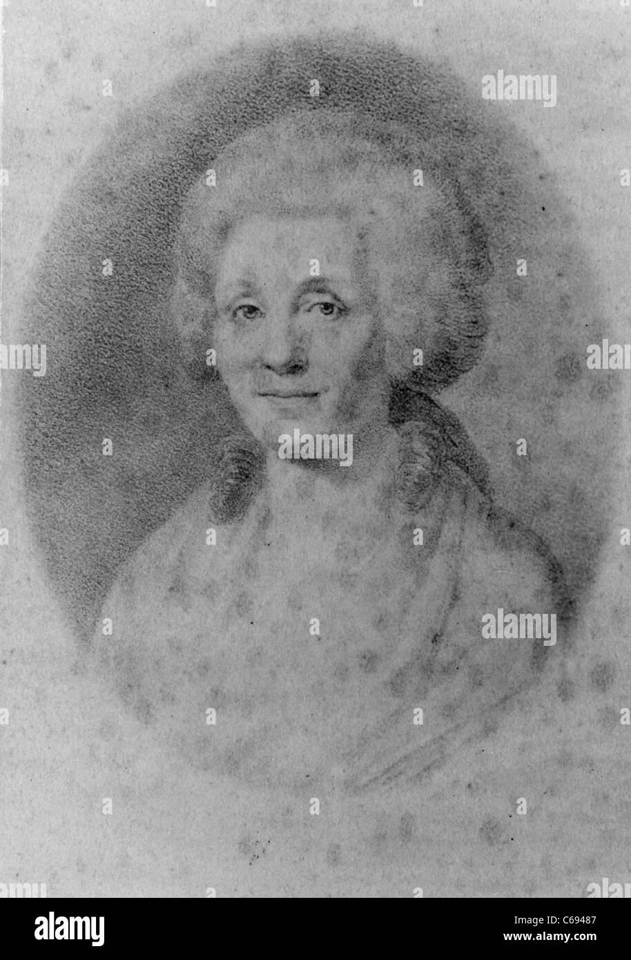Elizabeth Dorothea Kodweiss Schiller, mother of German dramatist Friedrich Schiller. - Stock Image