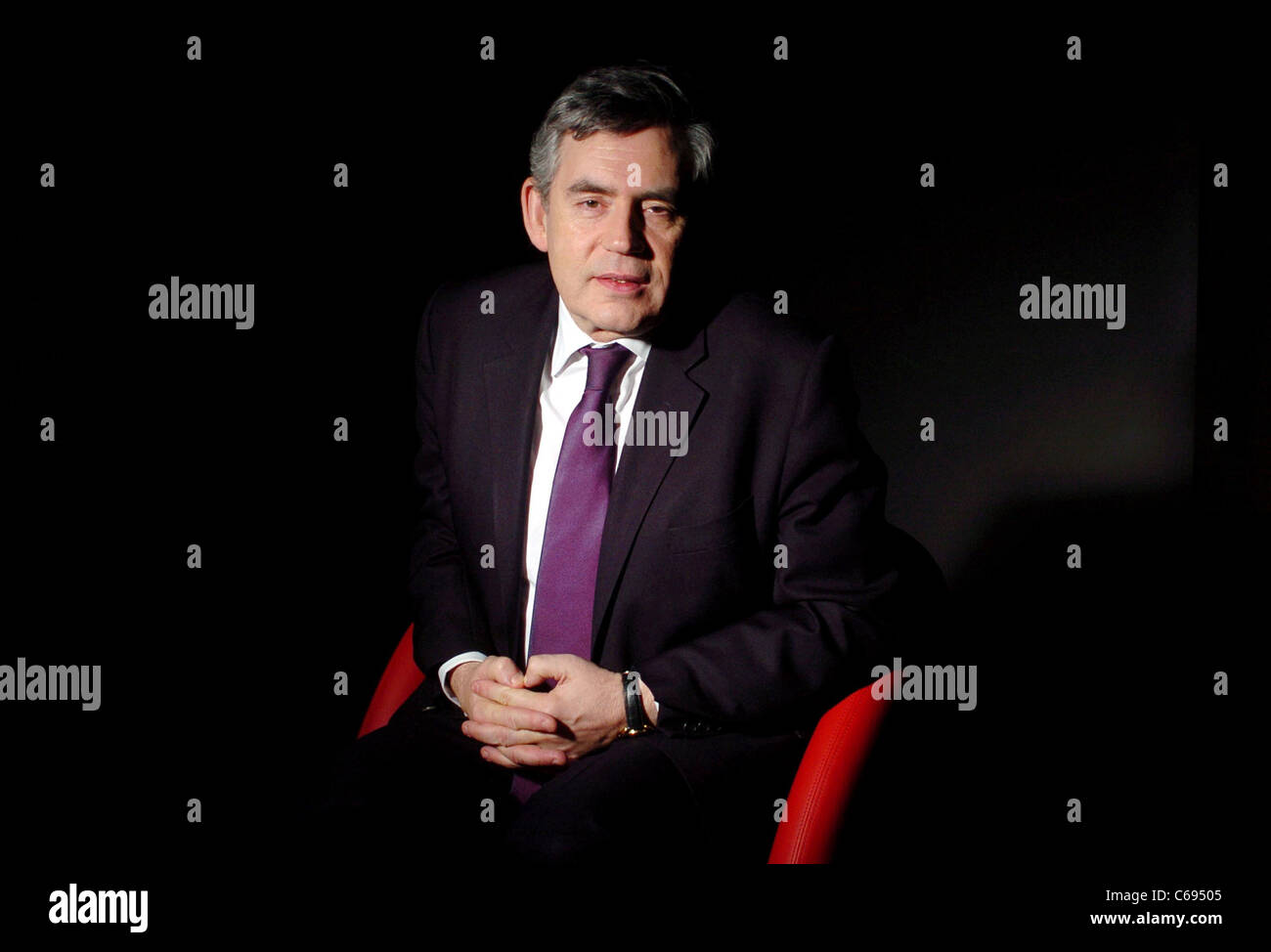 The former Labour Leader, Prime Minister and Chancellor of the Exchequer Gordon Brown. - Stock Image