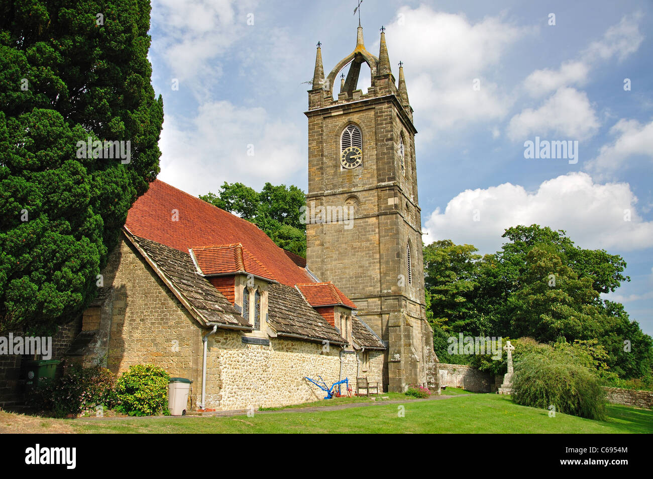 All Hallows Parish Church, Tillington, District of Chichester, West Sussex, England, United Kingdom Stock Photo