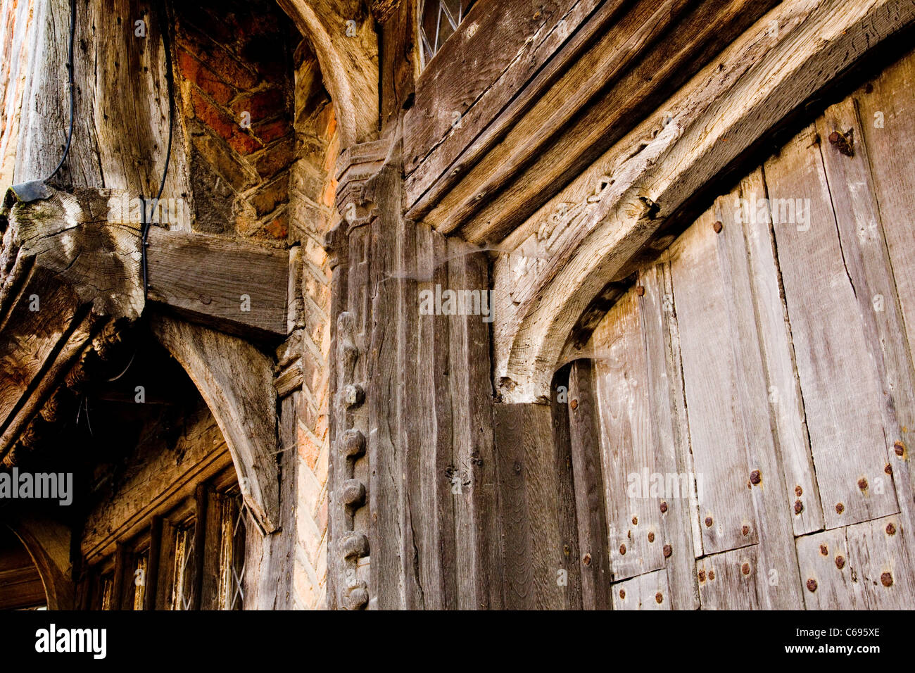 Ancient building, Lavenham Village, Suffolk England - Stock Image