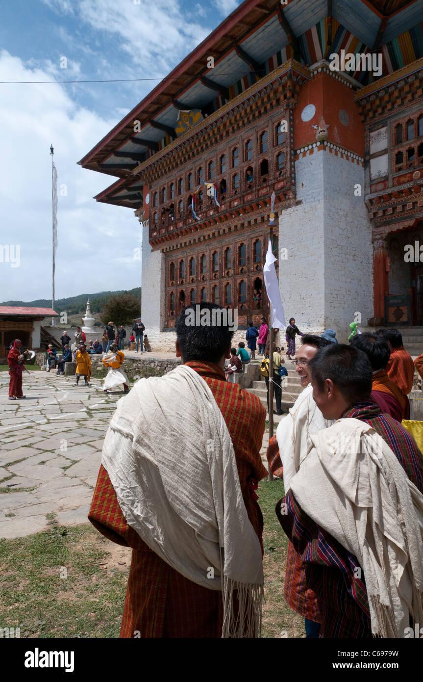 Traditional festival in Ura. Bhutan - Stock Image