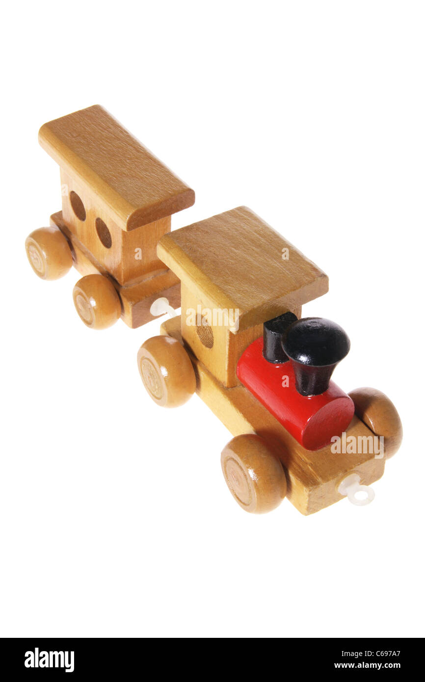 Wooden Toy Train - Stock Image
