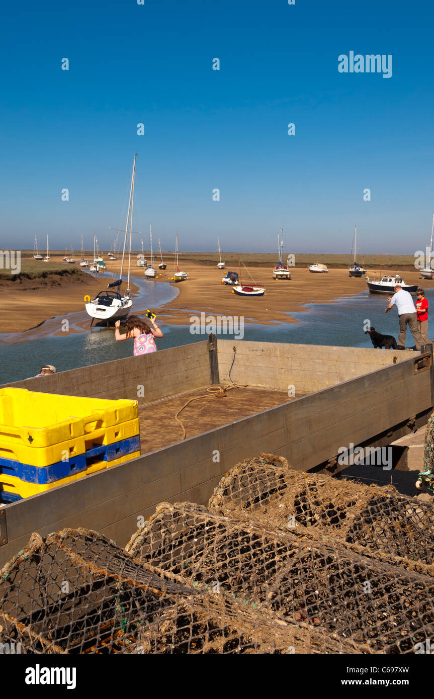 Equipment from fishing boats in the fishing industry at Wells-next-the-sea , Norfolk , England , Britain , Uk - Stock Image