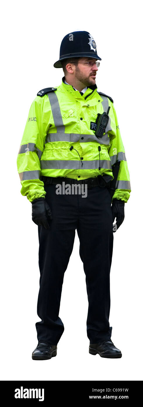 Standing policeman / police officer cut out - Stock Image