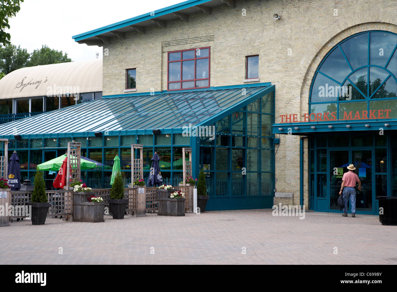 the forks market Winnipeg Manitoba Canada - Stock Image