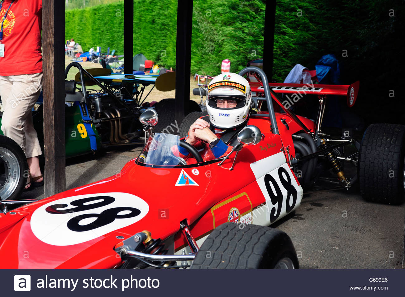 Tony Wallen Lotus 69 F3 single seat racing car at Shelsley Walsh ...