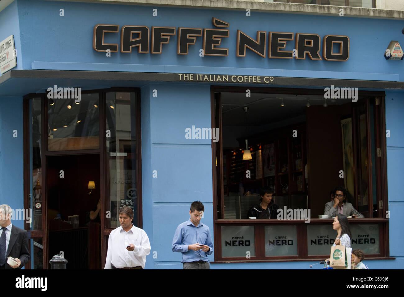 Caffe Nero coffee outlet Soho, London - Stock Image