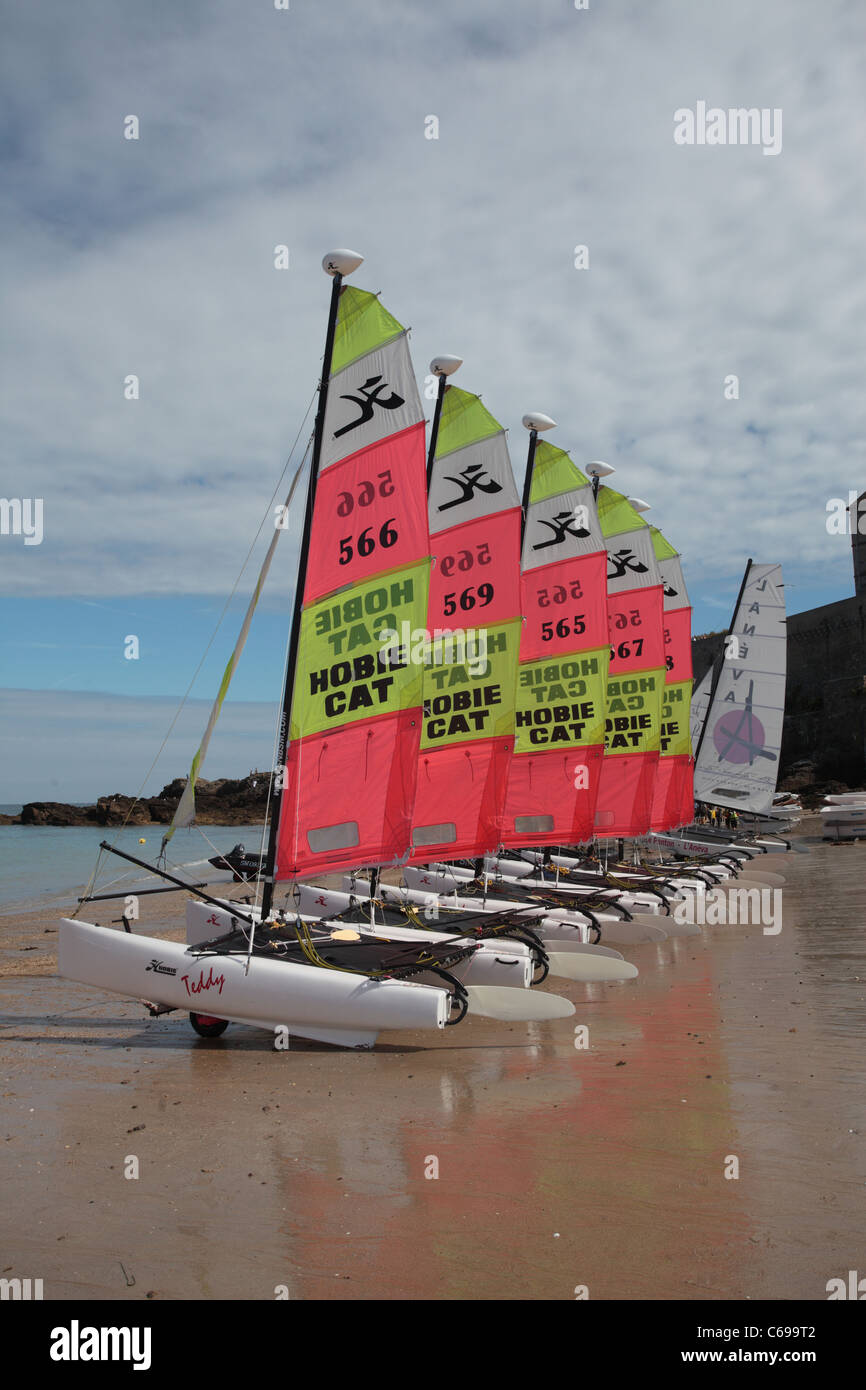training sail boats, st malo, brittany, france - Stock Image