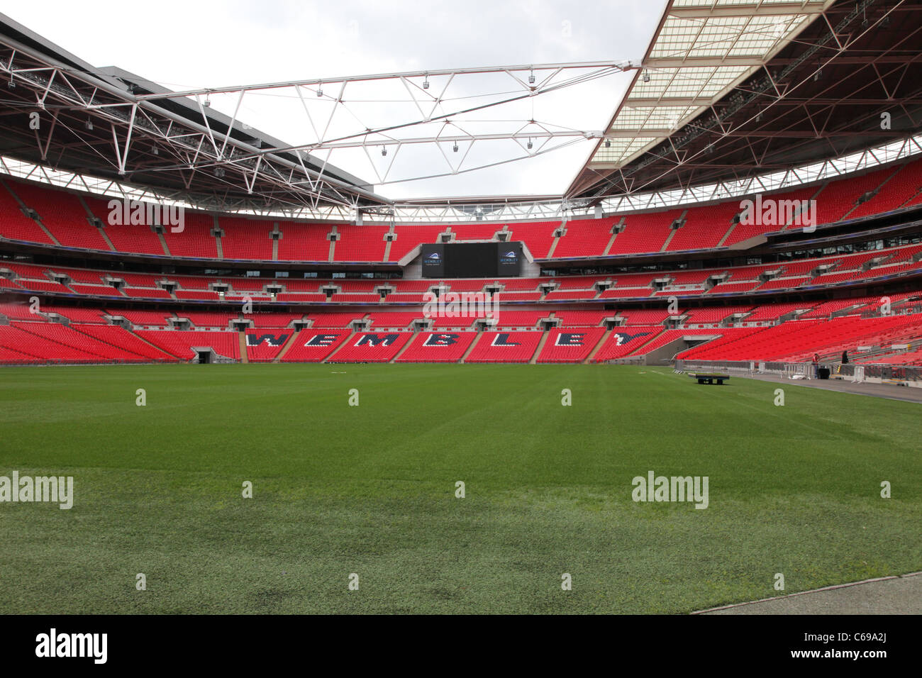 Wembley Stadium pitch - Stock Image
