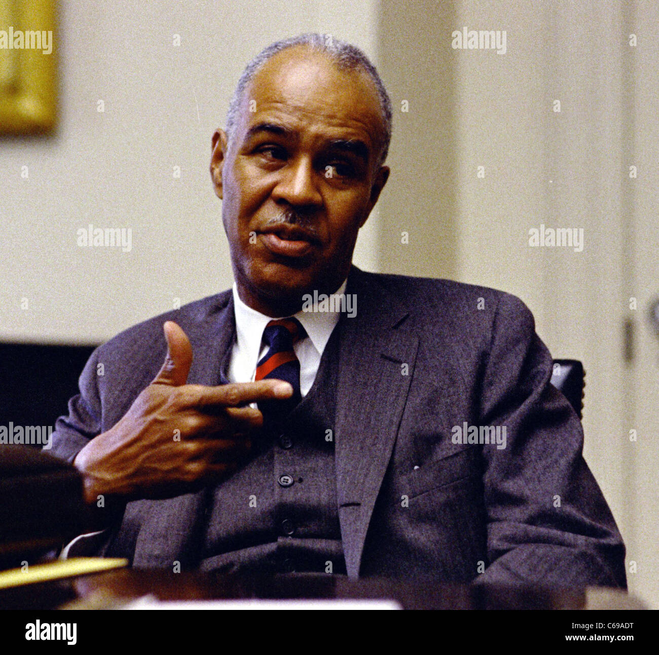 Roy Wilkins, civil rights activist - Stock Image