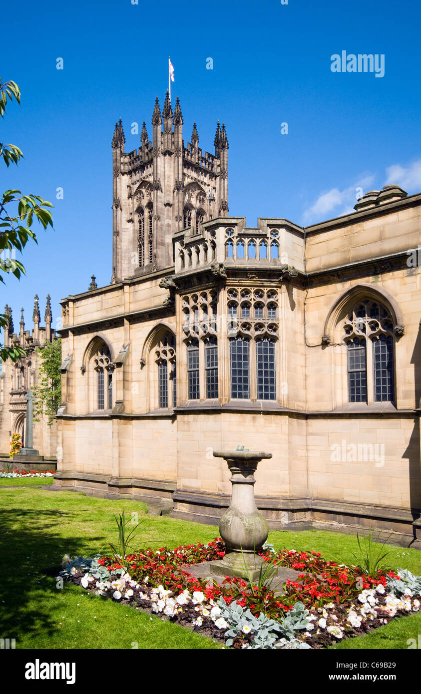 Manchester Cathedral in Manchester city center, England, UK - Stock Image