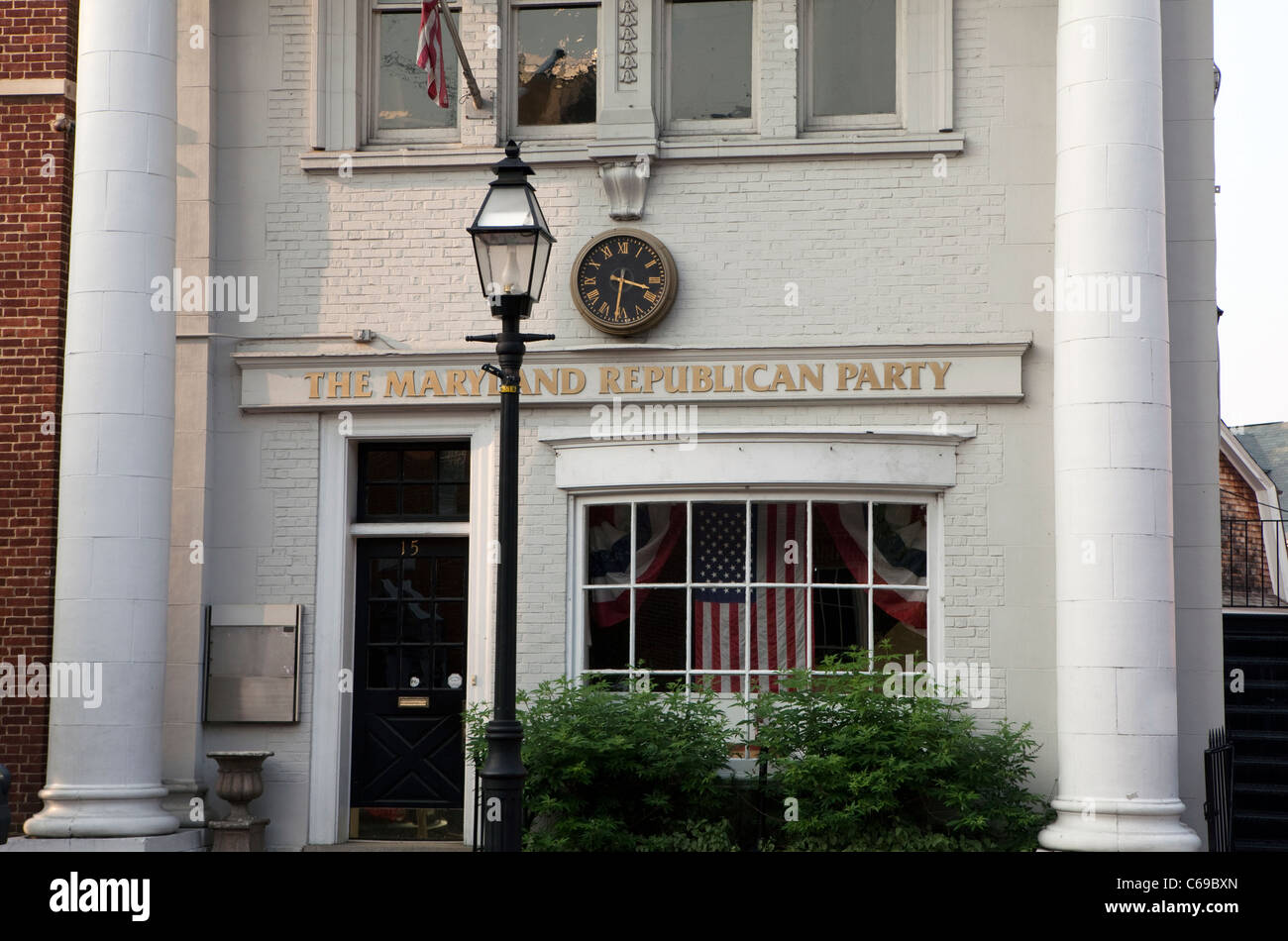 A view of the Republican Party headquarters in Annapolis, Maryland - Stock Image