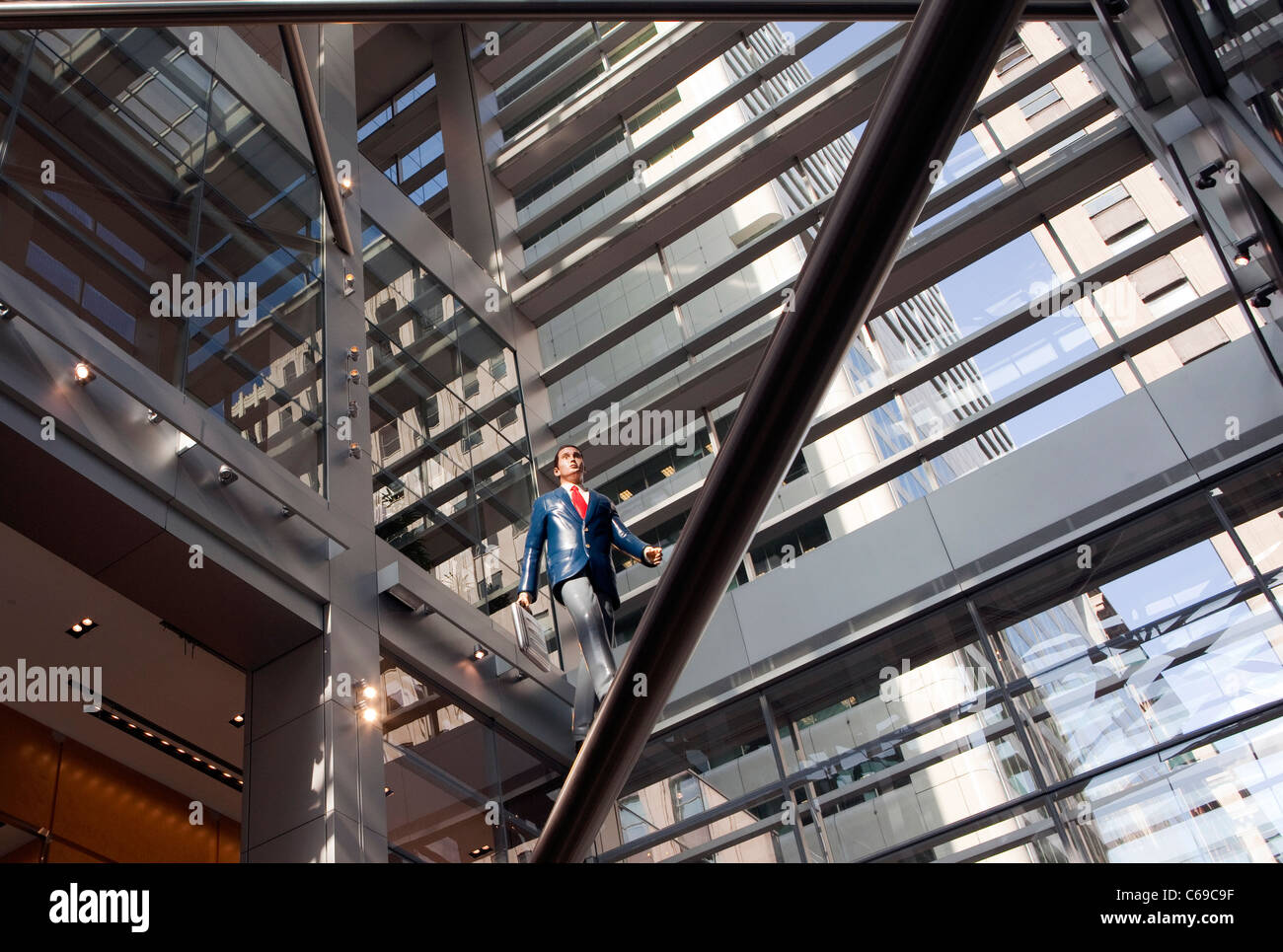 A view of the lobby of the Comcast Center in Philadelphia