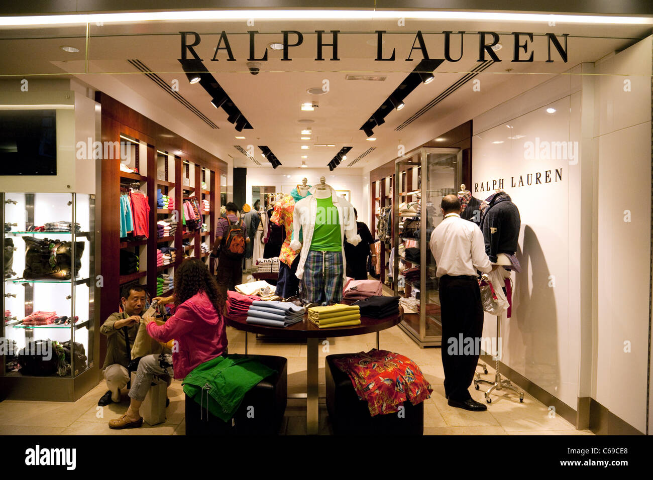 Ralph Lauren store, Departure lounge, terminal 3, Heathrow airport London UK - Stock Image
